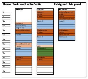 thumbnail of weekplanning groep ZELFREFLECTIE